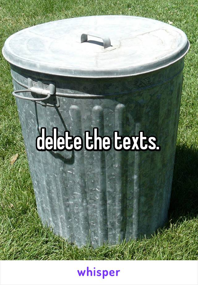 delete the texts.