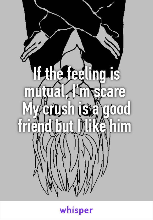 If the feeling is mutual, I'm scare  My crush is a good friend but I like him