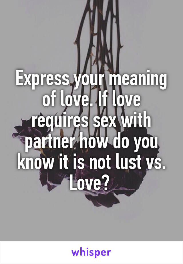 Sex partner meaning