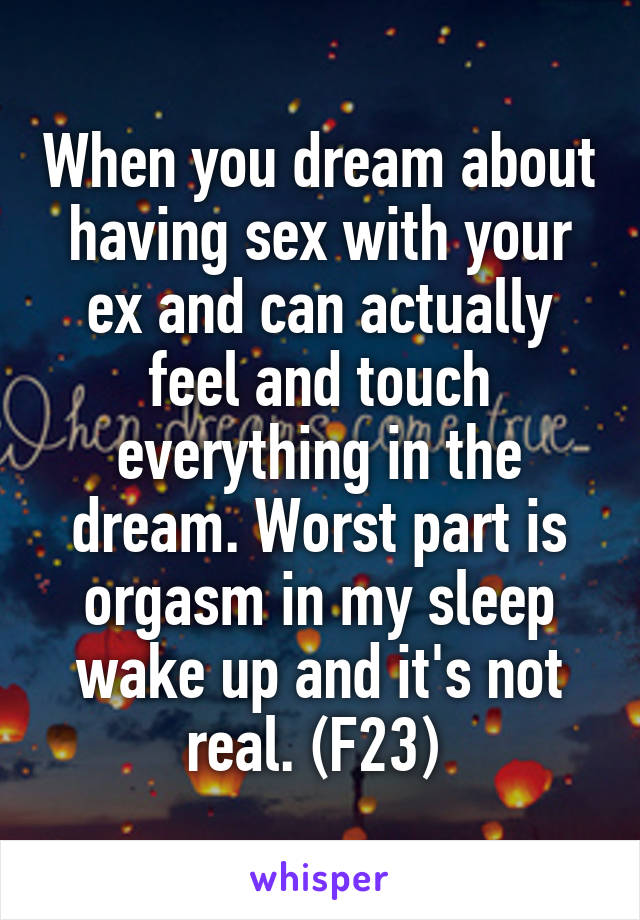 Dreaming about having sex with an ex