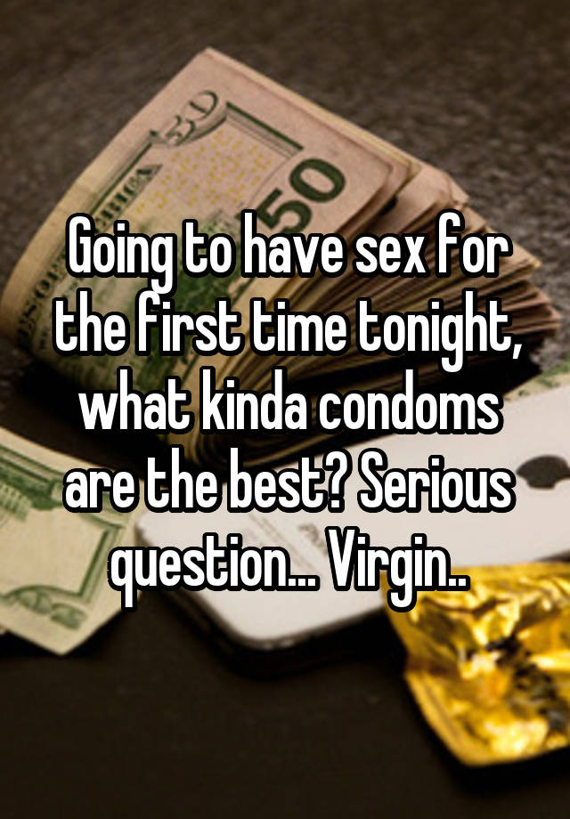 Recommended condoms for first time