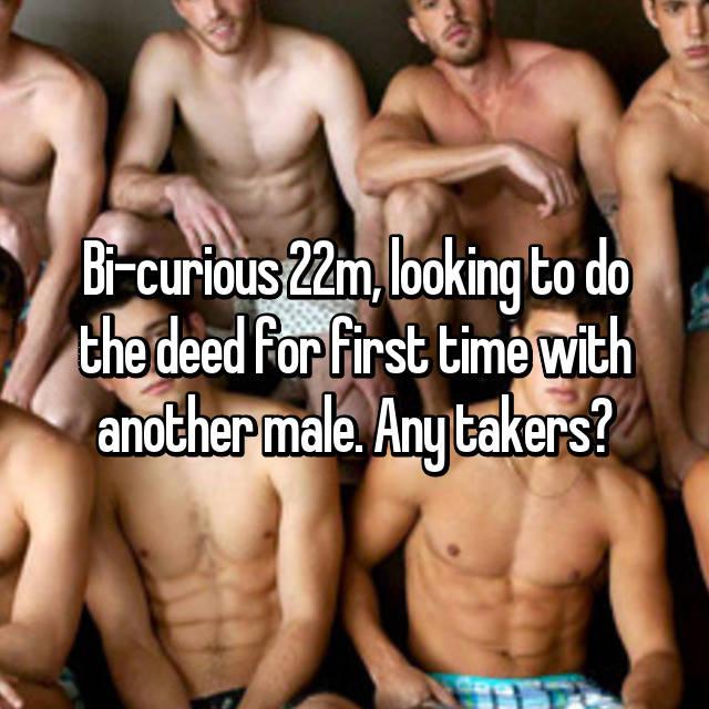 time first curious Bi guys