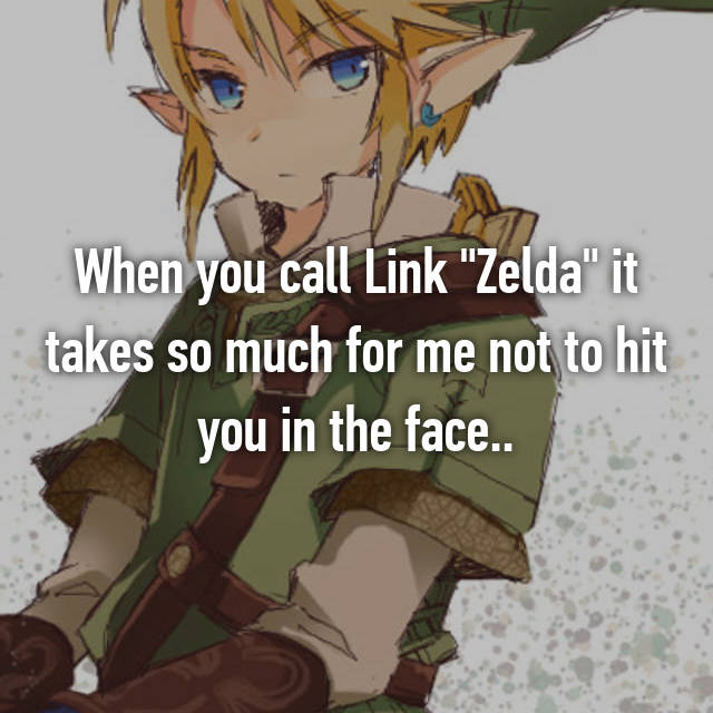 """When you call Link """"Zelda"""" it takes so much for me not to hit you in the face.."""