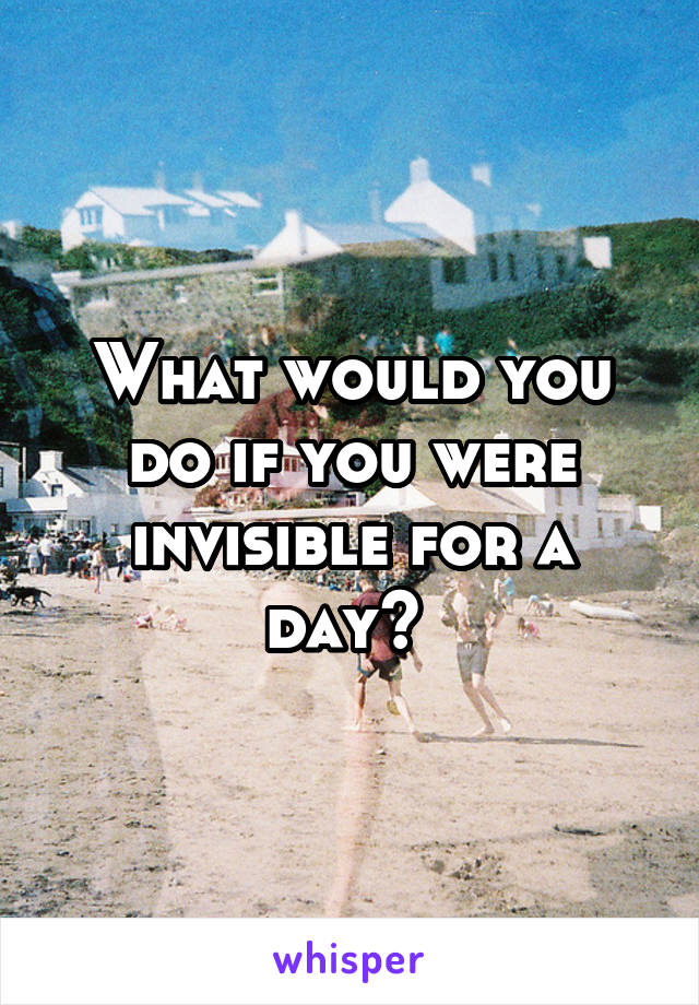 invisible for a day