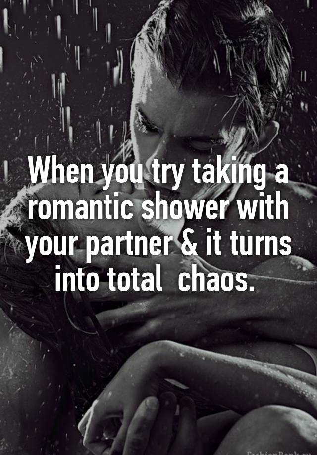 taking a shower with your partner