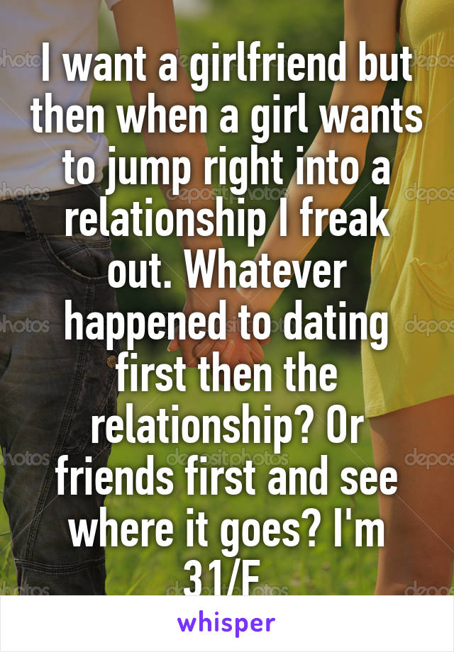 Dating a girl who wants to be friends first