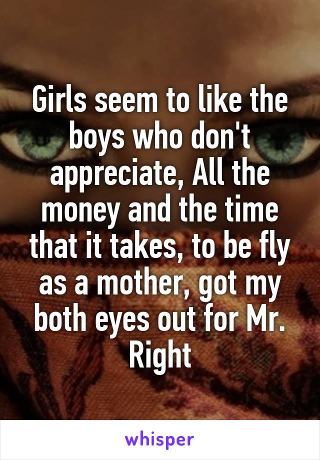 girls seem to like the boys