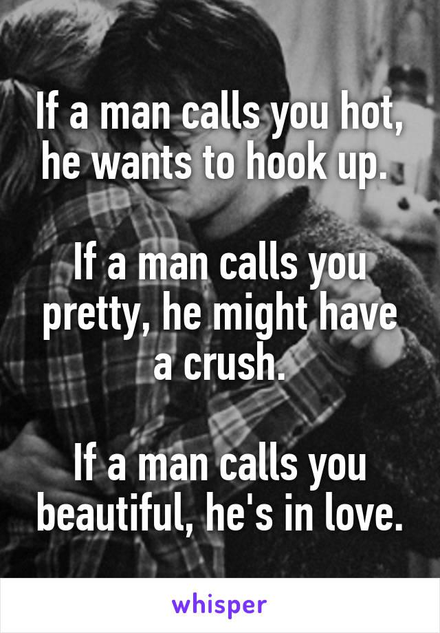 When a man calls you beautiful