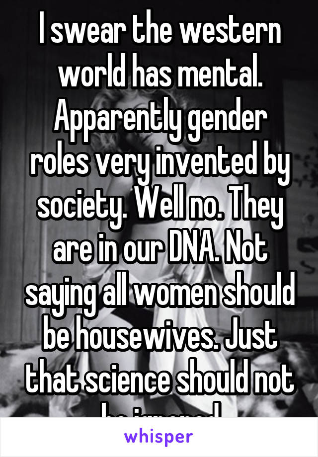 gender roles in western society