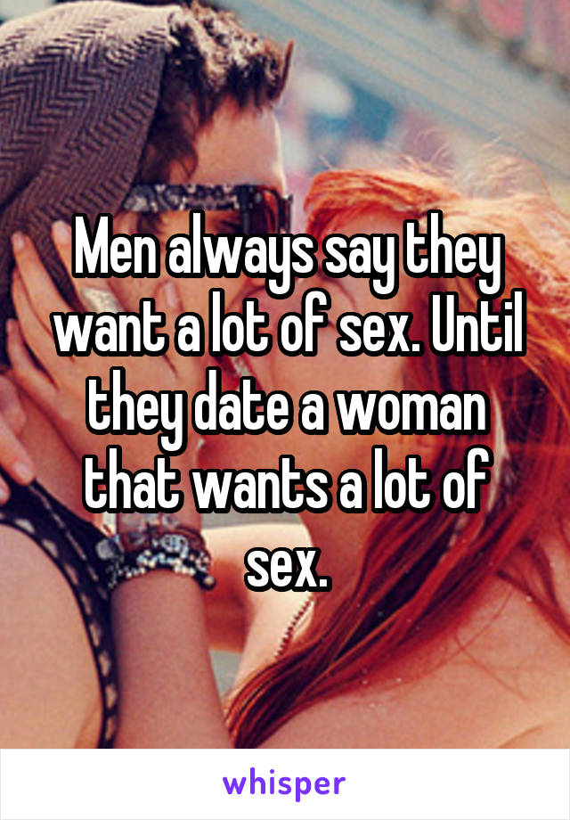 Sex with a lot of men