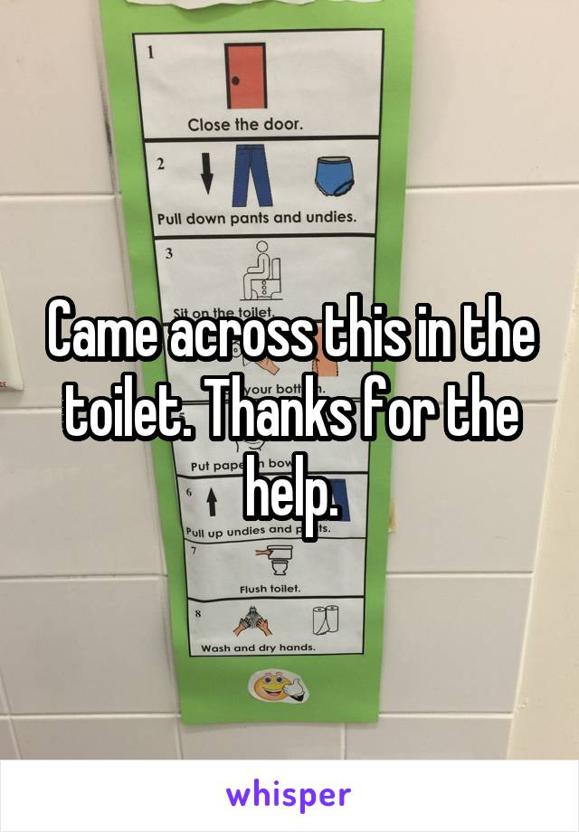 Came across this in the toilet. Thanks for the help.