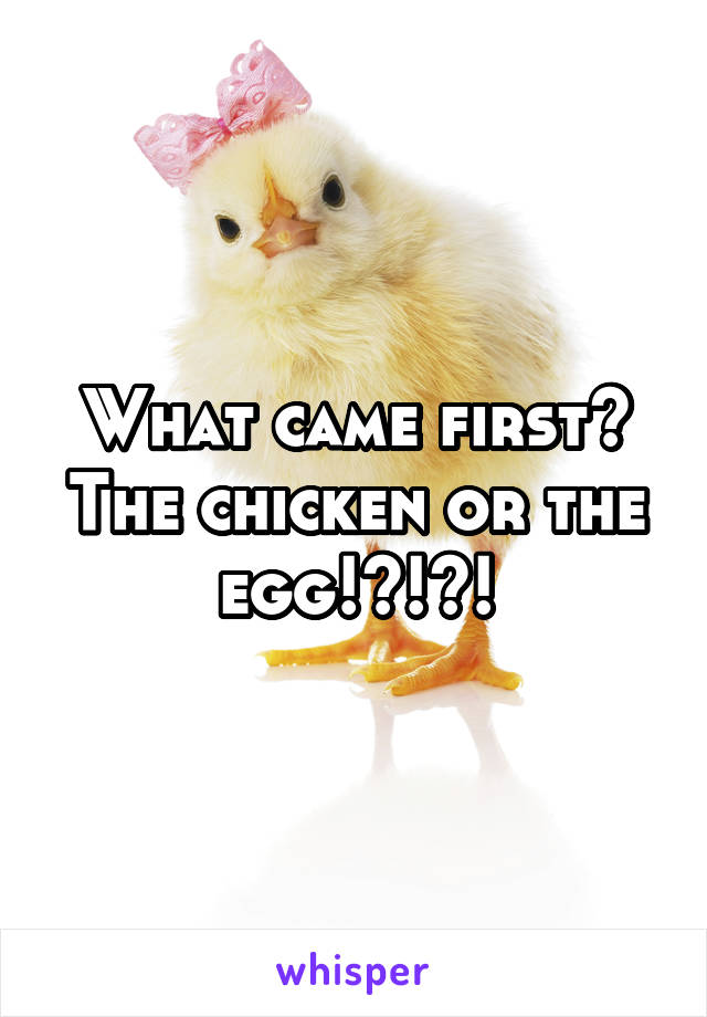 What came first? The chicken or the egg!?!?!
