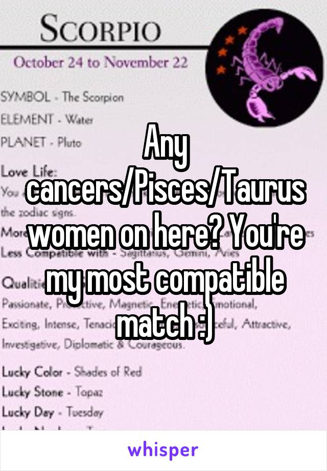 Who is taurus woman most compatible with
