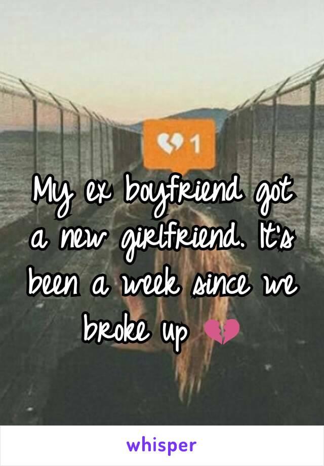 My ex boyfriend got a new girlfriend. It's been a week since we broke up 💔