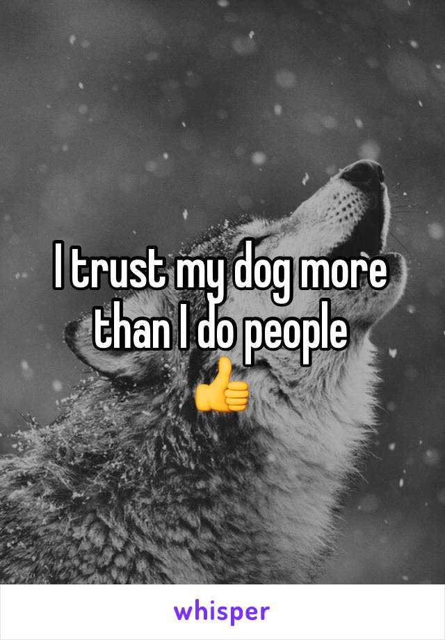 I trust my dog more than I do people 👍