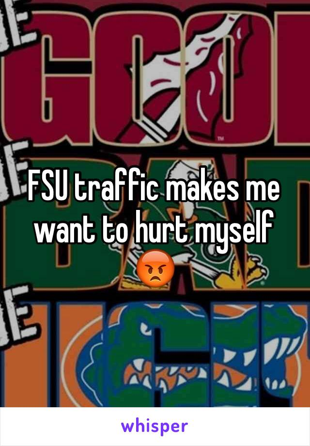 FSU traffic makes me want to hurt myself 😡