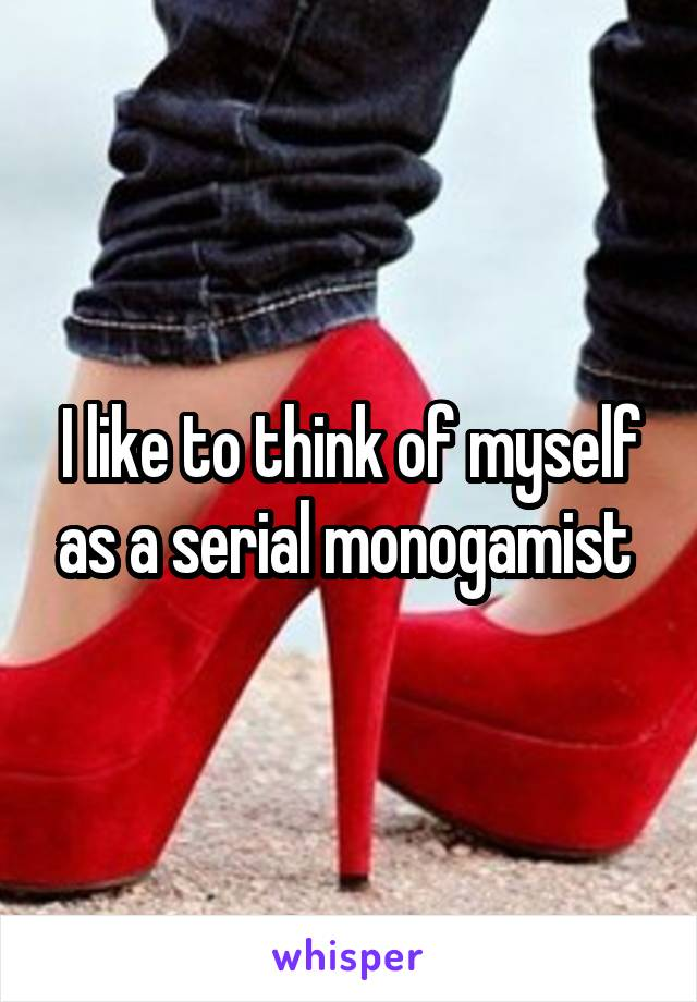I like to think of myself as a serial monogamist