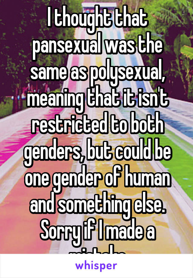 Polysexual meaning