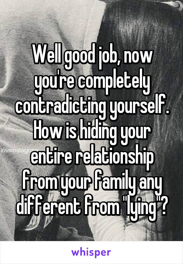 hiding a relationship from family