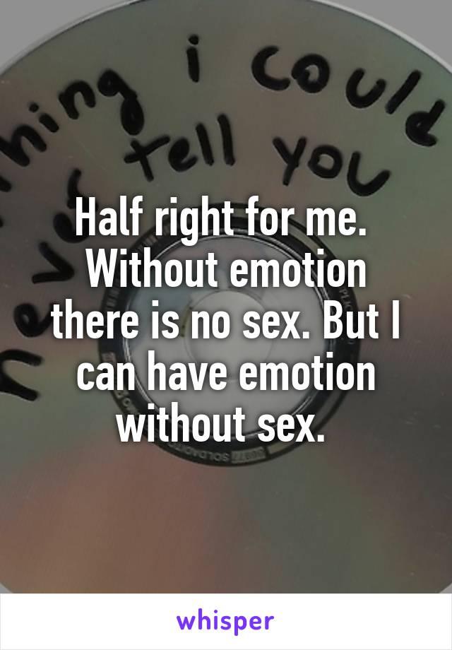No sex for me
