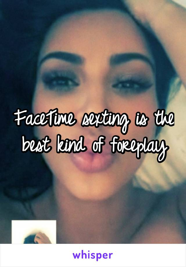 Sexting over facetime