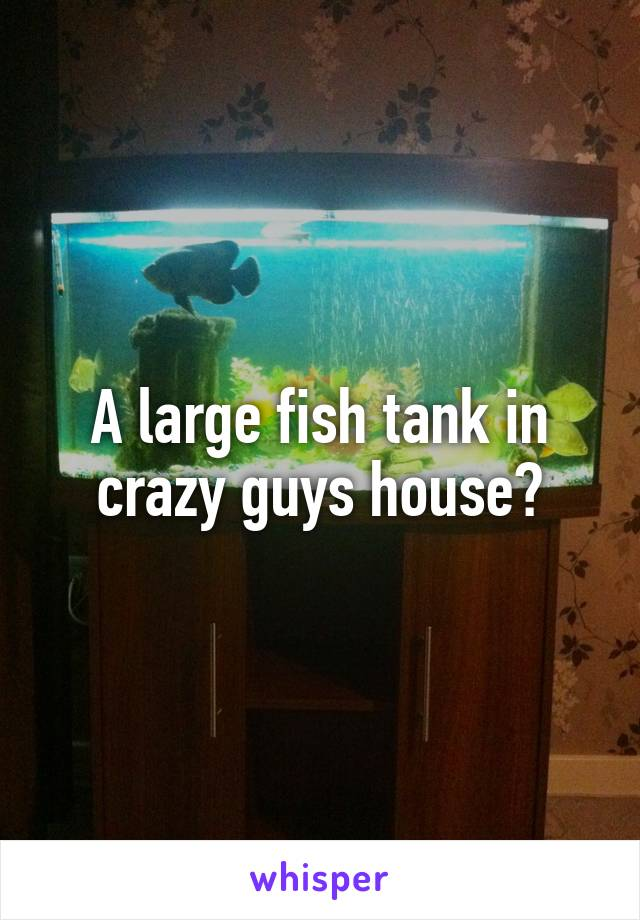A Large Fish Tank In Crazy Guys House