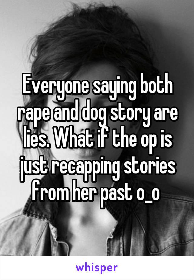 dog rape stories