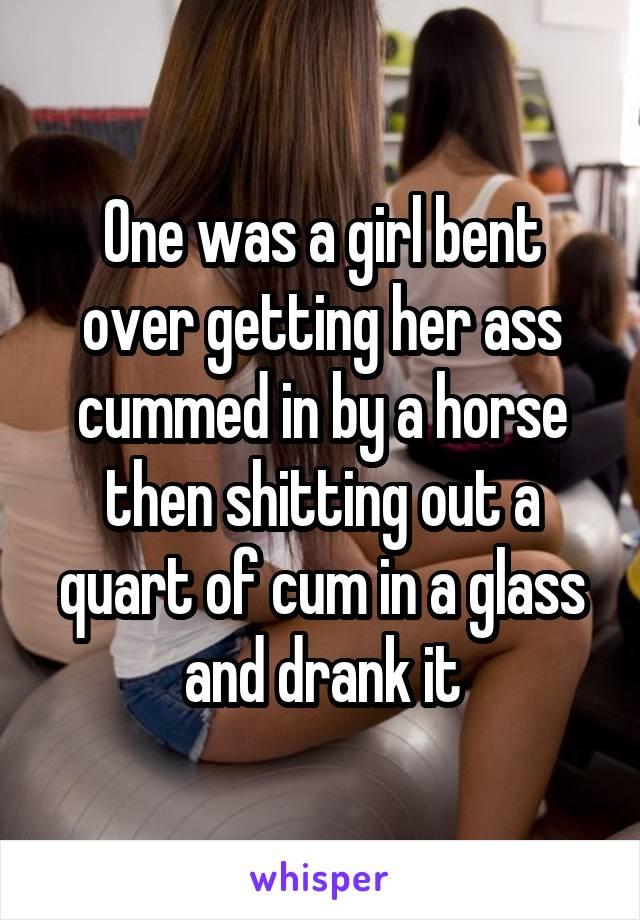 bent ass Cum her over on