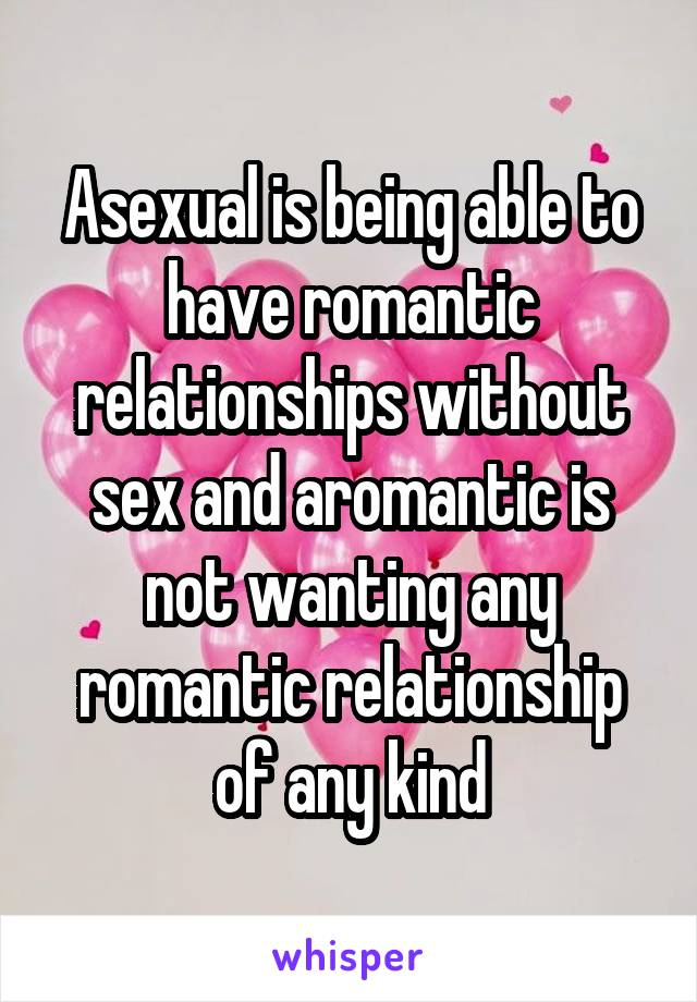 Sex without relationship