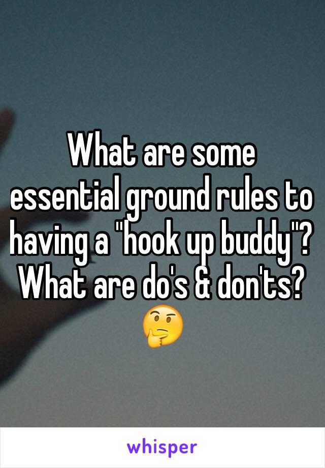 hook up buddy rules
