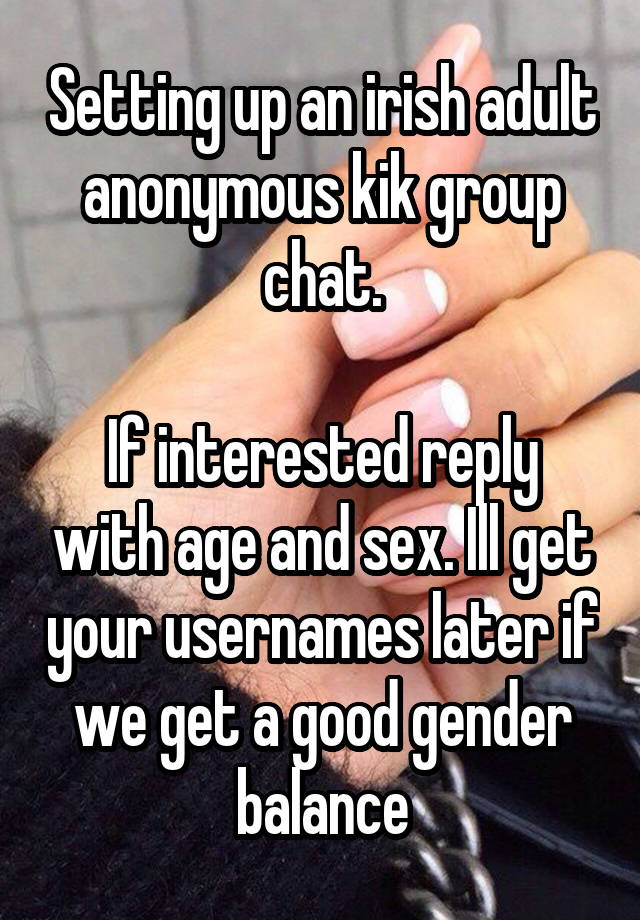 anonymous adult chat