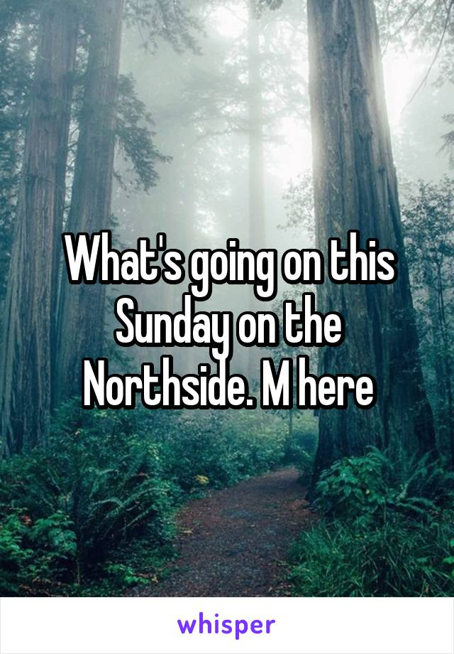 What's going on this Sunday on the Northside. M here