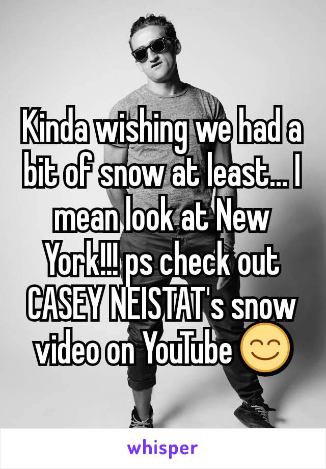 Kinda wishing we had a bit of snow at least... I mean look at New York!!! ps check out CASEY NEISTAT's snow video on YouTube 😊