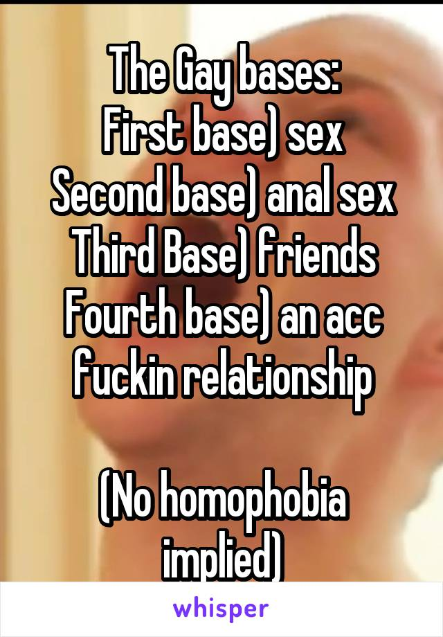 Sexual first base second base third base