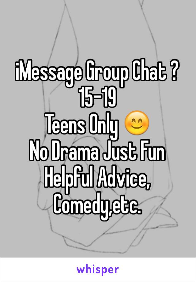 Fun chat for teens messages Such