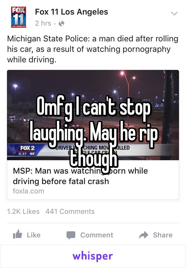 Omfg I can't stop laughing. May he rip though