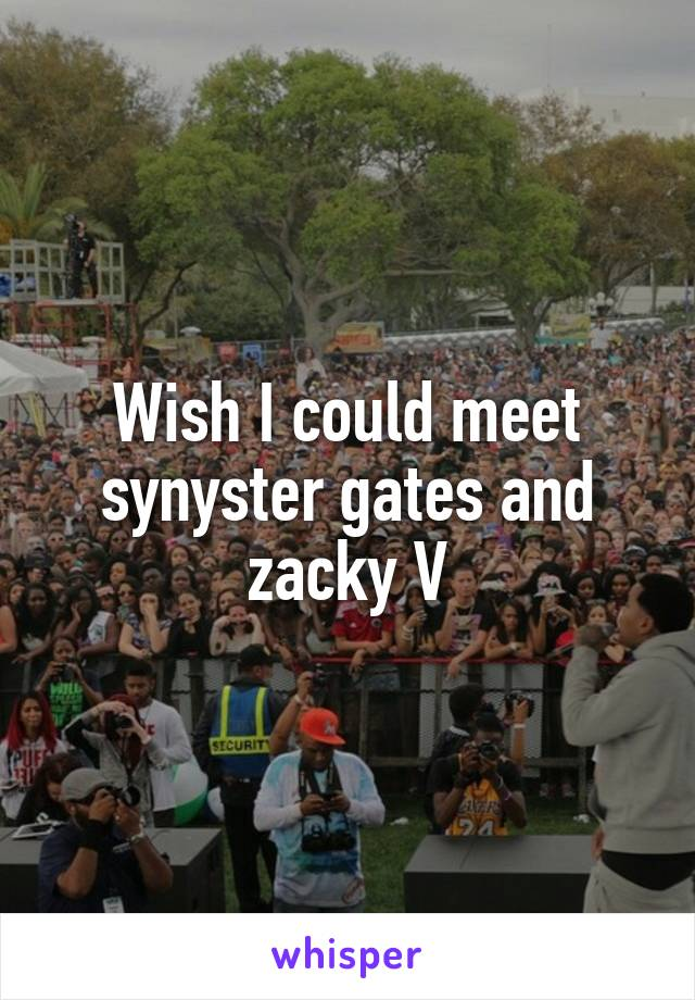 Wish I could meet synyster gates and zacky V