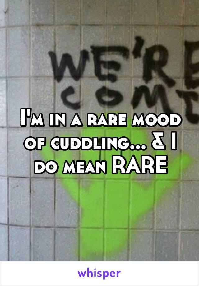 I'm in a rare mood of cuddling... & I do mean RARE