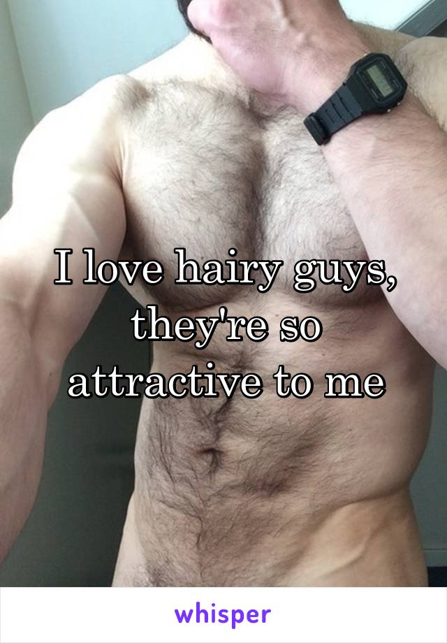 I love hairy guys, they're so attractive to me