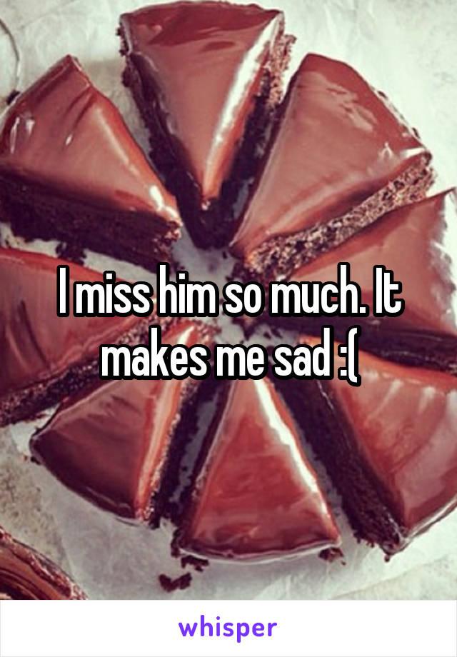 I miss him so much. It makes me sad :(
