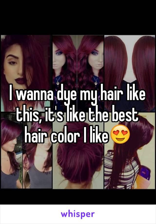 I wanna dye my hair like this, it's like the best hair color I like😍