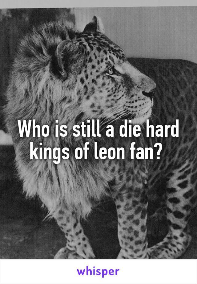 Who is still a die hard kings of leon fan?
