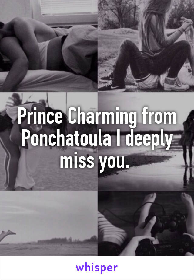 Prince Charming from Ponchatoula I deeply miss you.