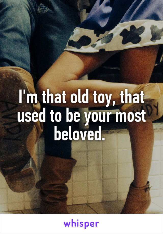 I'm that old toy, that used to be your most beloved.