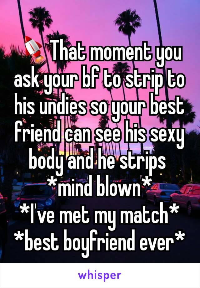 Wife strips for my best friend