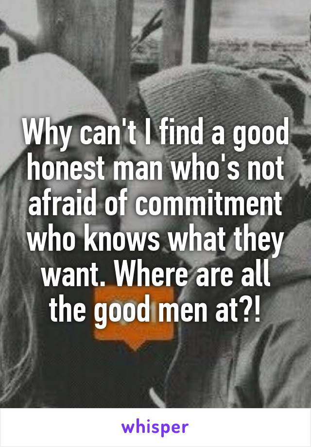 Why can t i find a man