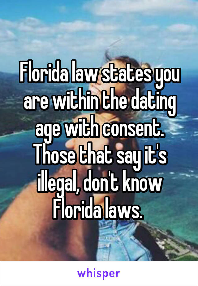 What is the dating age limit in florida