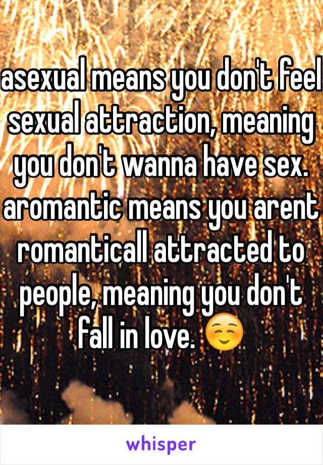 Aromantic sexuality definition