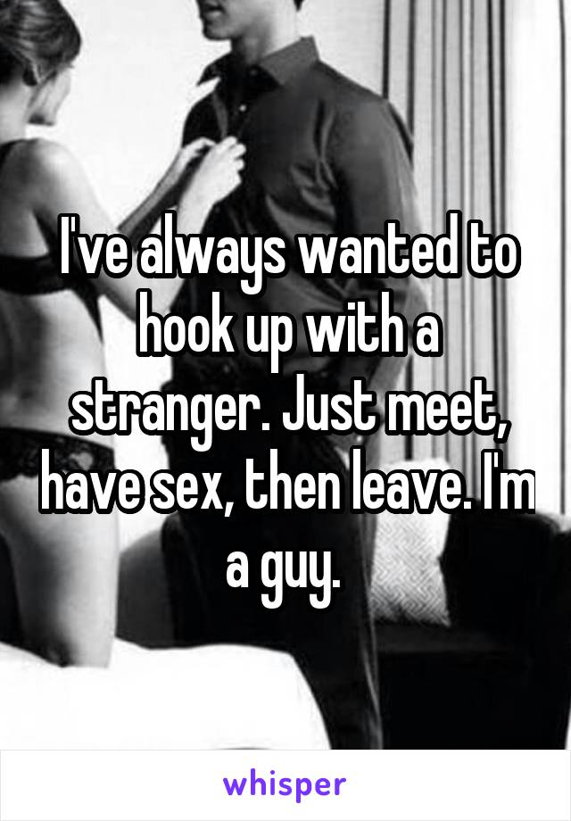 Is it okay to hook up with a stranger