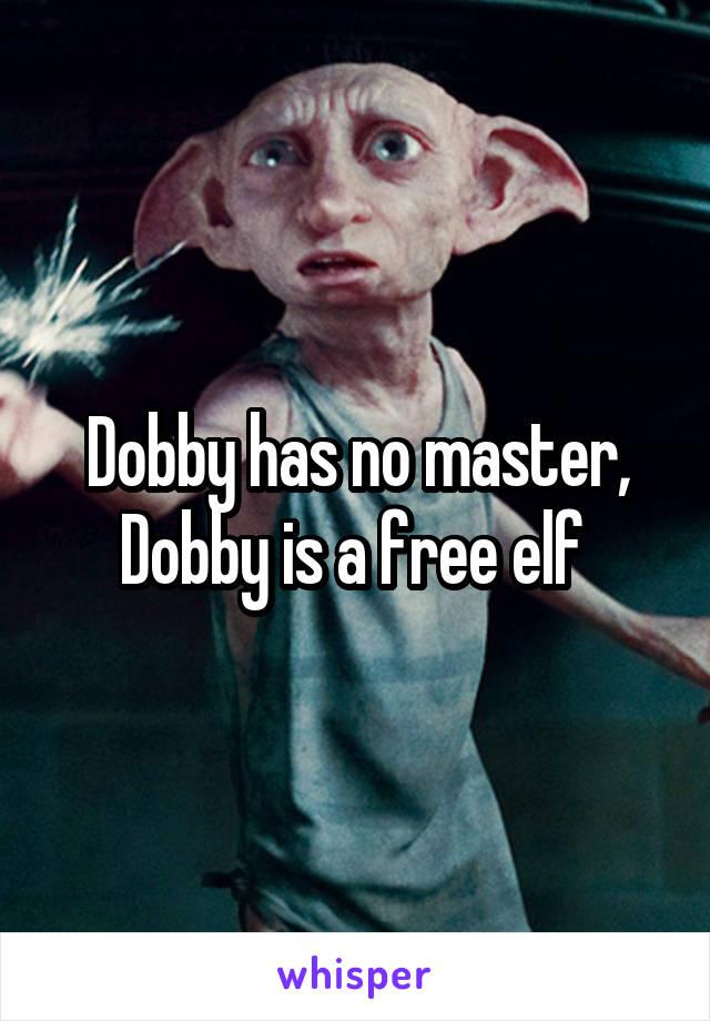 Dobby has no master, Dobby is a free elf